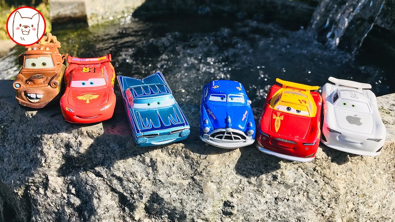 The Alphabet Song - Learn Colors Disney Cars Lightning Mcqueen Play Hide and Seek Outside for Kids