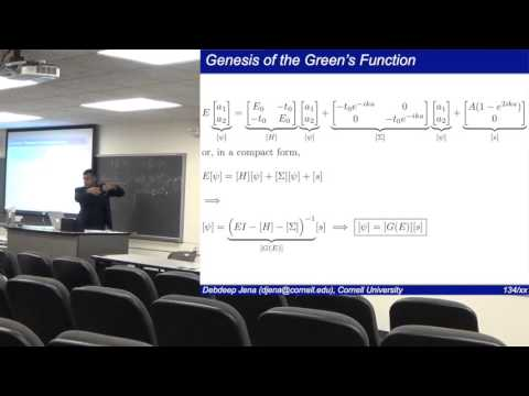 Quantum Transport (Lecture 11): Understanding Transport by Non-Equilibrium Green's Functions