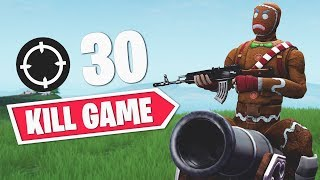 FiveSkill | 30 KILL SOLO VS SQUADS WIN! (Fortnite Battle Royale)