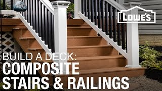 How To Build A Deck   Composite Stairs & Railings  4 Of 5