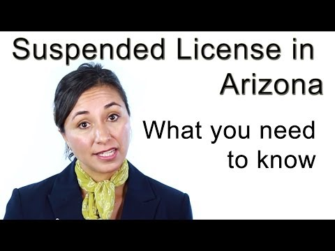What to do if you have a Suspended License in Arizona