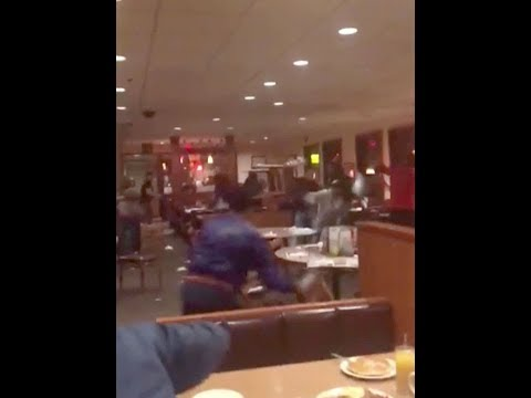 Diners had to flee family restaurant as teens hurled chairs in huge brawl