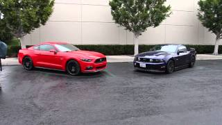 NEW 2015 Ford Mustang New VS Old Side by Side Comparisons!