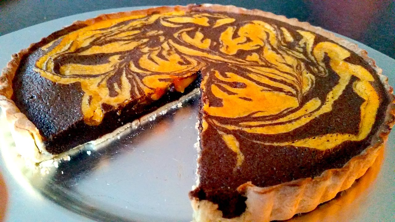 Autumn Chocolate Orange Tart - YouTube