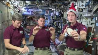 Space Station Crew Celebrates the Holidays Aboard the Orbital Lab