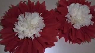 Как сделать цветы из салфеток просто!