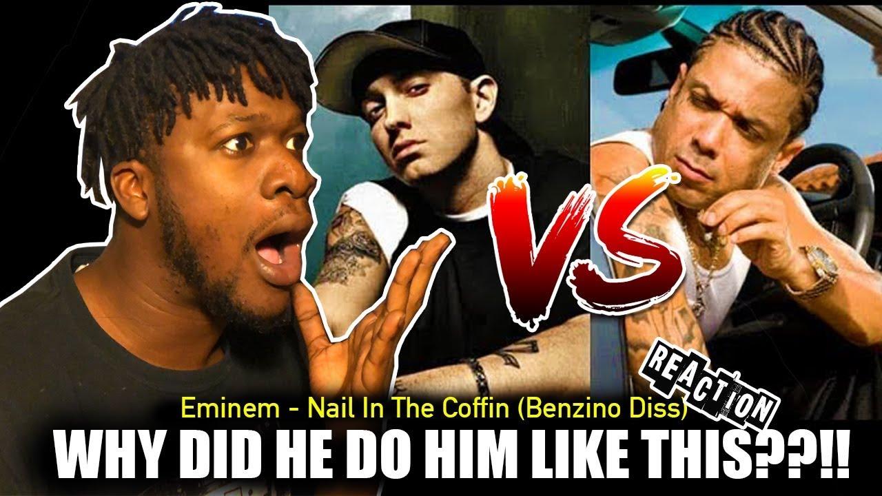 Eminem - Nail In The Coffin Lyrics (Benzino Diss) REACTION! - YouTube