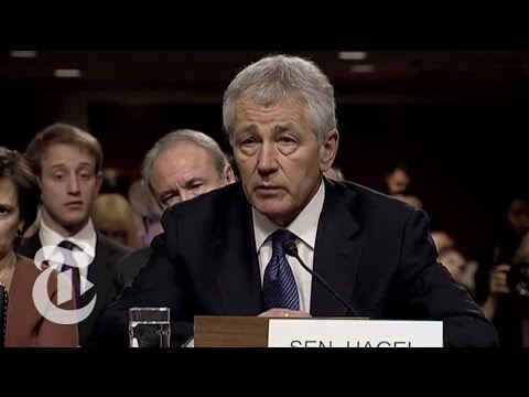 Chuck Hagel Spars With John McCain Over Iraq 'Surge' at Hearing | The New York Times