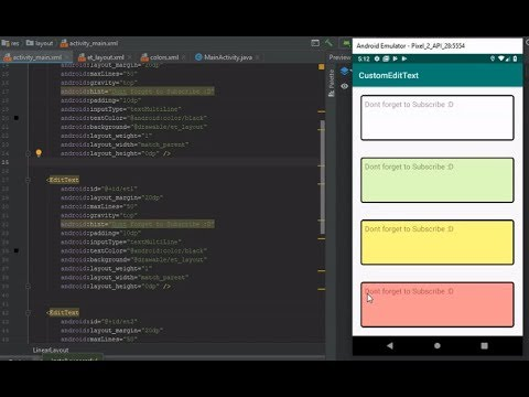 Android Studio Tutorial - EditText | Multiple EditText (Boxed) Design