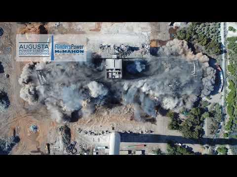 Northern Power Station Boiler Demolition 2