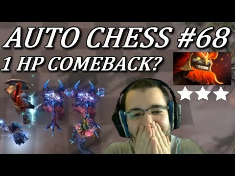 1% LIFE And A DREAM, Can Gods Do It? | Dota Auto Chess Gameplay 68