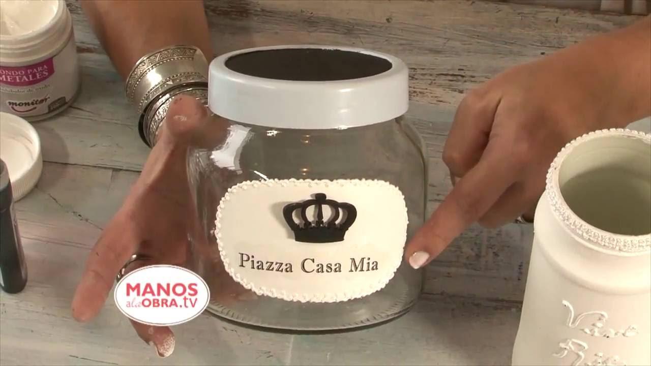 Reciclar objetos vintage pintar vidrio madera metal for Reciclar frascos de vidrio de cafe
