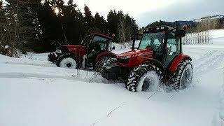 Traktör Hava Yaptı Ormanda Kaldık! | Case JX65C & Massey Ferguson 5440