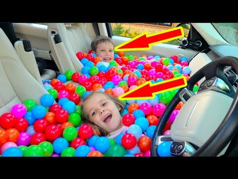 Daddy's CAR fill WITH BALLS pit