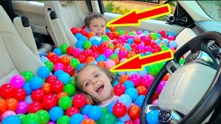 Daddy\'s CAR fill WITH BALLS pit