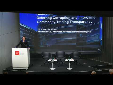 Natural resources: deterring corruption and improving commod