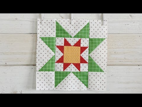"10"" Corner Star Quilt Block Tutorial"