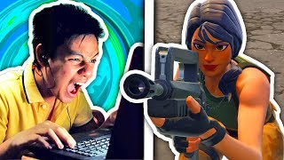PRO FORTNITE PLAYER GETS EPIC TROLLED BY ME!!