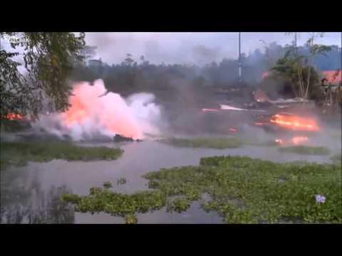 Underground Methane blast + Lava Flow