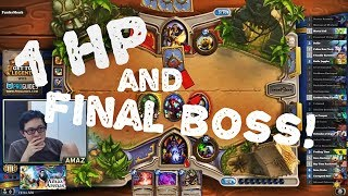 Hearthstone Arena - 1 HP AND FINAL BOSS!