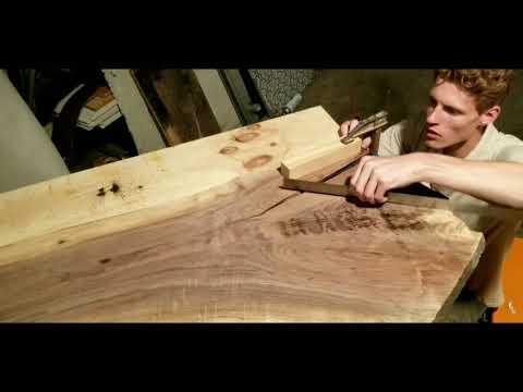 DIY HOW TO - Live edge walnut bar table - WOODWORKS - CUSTOM WELDED BASE