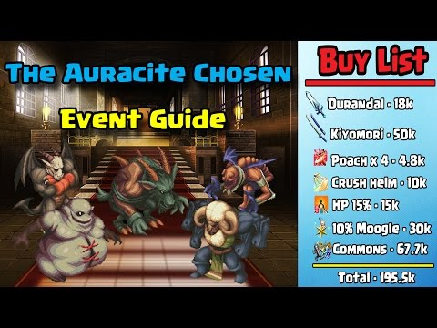 Final Fantasy Brave Exvius - The Auracite Chosen Event Guide!