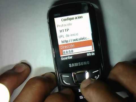 Configuracion Internet En Celular Samsung Gt E3300l Youtube