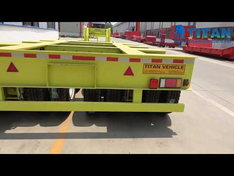 Heavy Load Trailers | China Multi Axles Heavy Duty Lowbed Lowboy Truck Semi Trailer And Factory Show