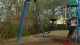 Fat Girl Falls Off Swing