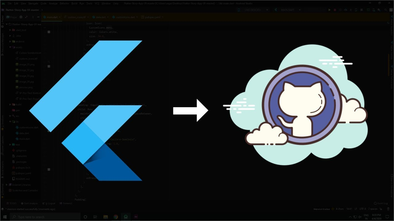 How to Upload Flutter Project on Github | Flutter Github Guide