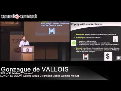 Coping with a Diversified Mobile Gaming Market | Gonzague de VALLOIS
