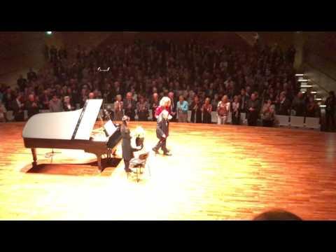 Menahem Pressler,93 years old, receiving standing ovations, Bochum 14.07.2017