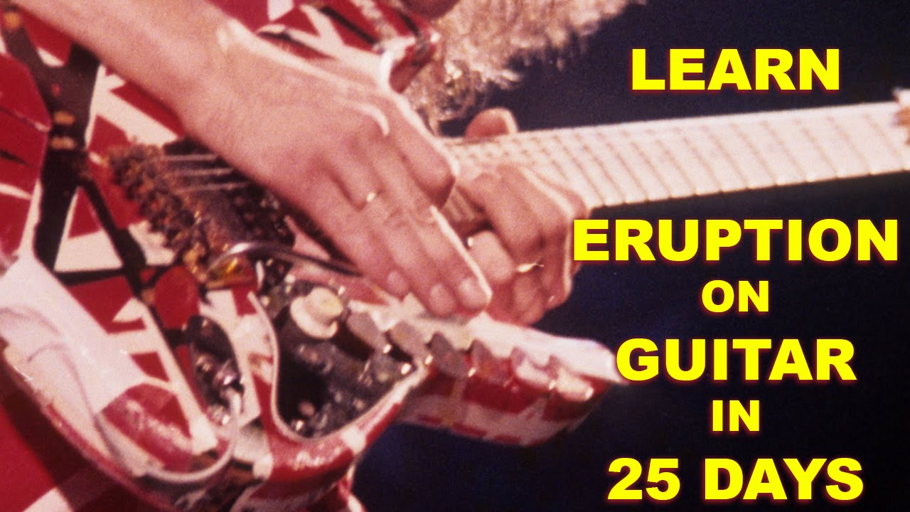 Van Halen Eruption Guitar Lesson 04 By Mark John Sternal Learn To Play In 25 Days Youtube