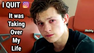 Tom Holland Quits Instagram | No More Spider-Man Updates from Him | 2020