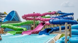 The Three Sisters Water Slides at Raging Waves