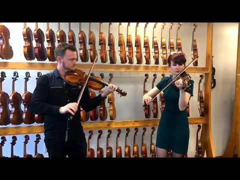 A fiddle tune, as heard on two $20,000 violins