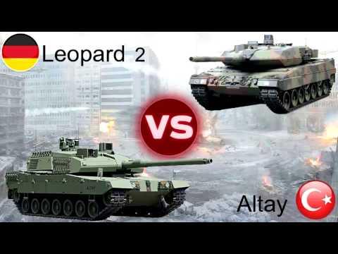 Turkish ALTAY vs German LEOPARD 2