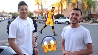Devin Booker SHOUTS ME OUT! (With D'angelo Russell)