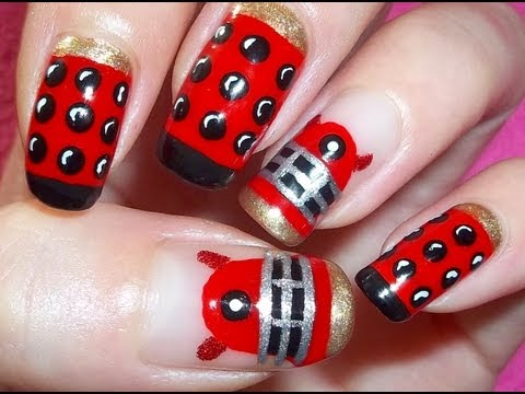 Doctor Who: Dalek Nail Art