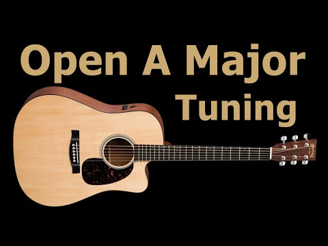 open a guitar tuning