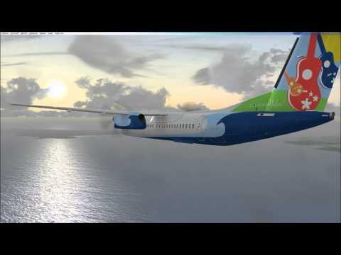 FSX - Hilo Intl (PHTO) to Kahului (PHOG) - MJC8 Q400 - Fictional Repaint Island Air