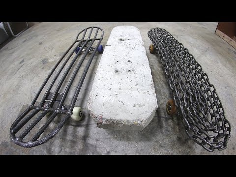 THE 3 HEAVIEST SKATEBOARDS IN THE WORLD!