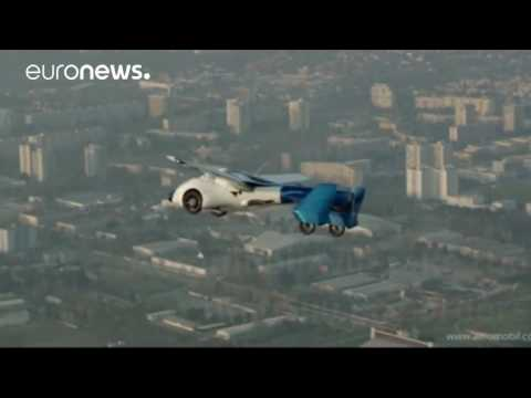Flying cars at luxury auto show in Monaco