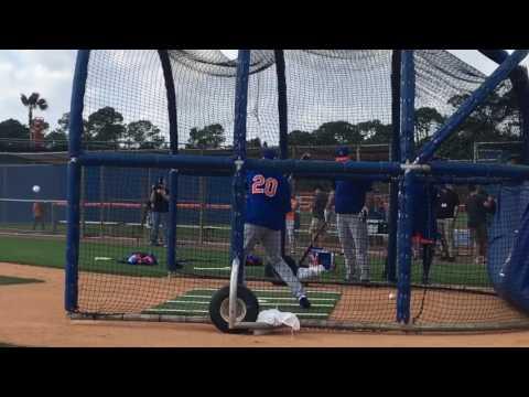 Neil Walker takes batting practice