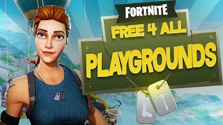NEW Game Mode Free For All Mode! | Fortnite PlayGrounds | Season 5 Fortnite Funny Moments