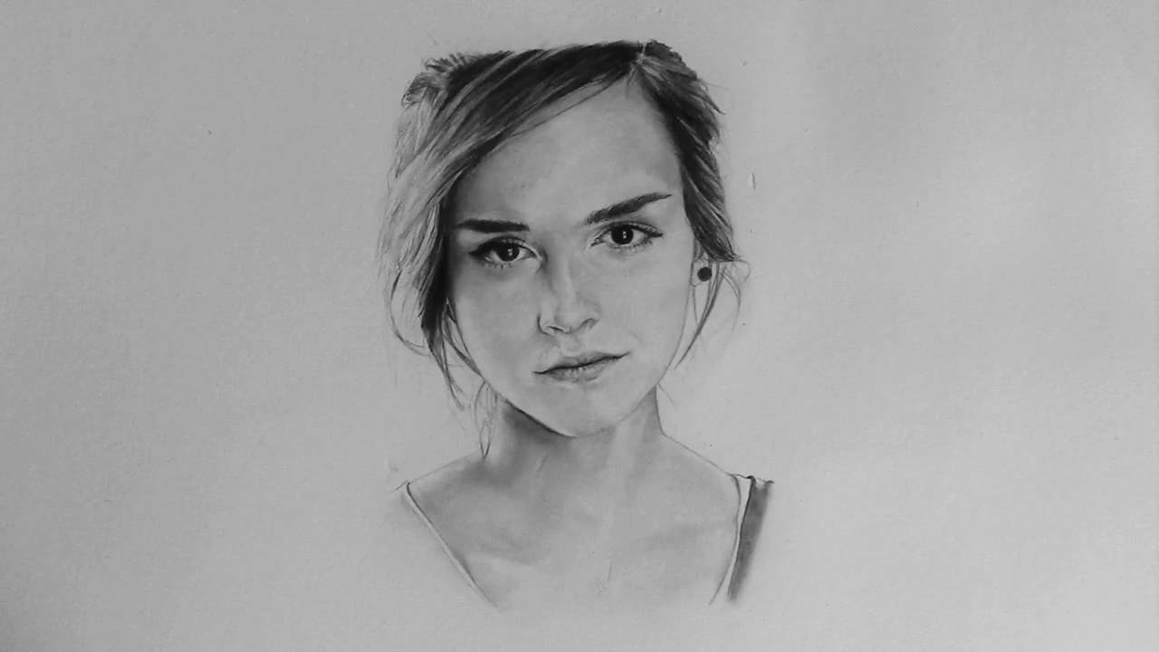 Drawing Emma Watson Youtube