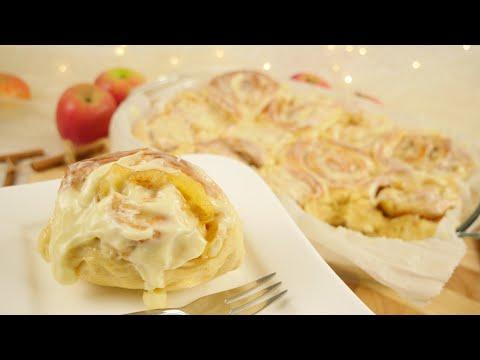 Apple Pie Cinnamon Rolls I Apfel Zimtschnecken Rezept