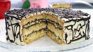 Торт Нежность Бесподобный домашний торт Бисквит Вкуснейший крем Шоколад