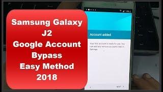 Samsung Galaxy J2 | Google Account Bypass | Easy Method 2018 |