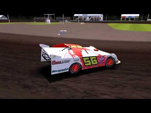 Pickup race at Farmer City Raceway. rFactor DM16 mod.